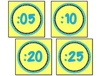 'Bug-A-Boo' Analog Clock Labels  Back To School