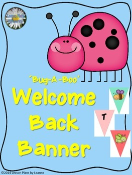 'Bug-A-Boo' Welcome Back Banner  Back To School