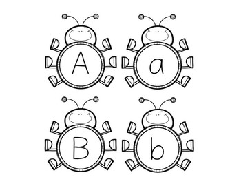 Bug Alphabet Matching Upper and Lower Case