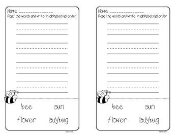 Bug Alphabetical Order