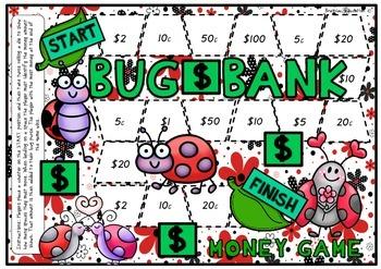 Bug Bank Money Board Game - Easy Version