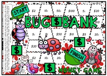 Bug Bank Money Board Game - Easy Version