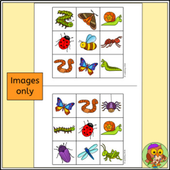 Bug Bingo Game - Insect and Minibeast Activity