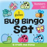 Bug Bingo Set - 5 Print and Play Number Games