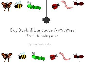 Bug Book & Language Activities for Preschool and Kindergarten