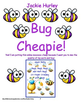 Bug, Bug, Bug Cheapie (almost free) Common Core Aligned