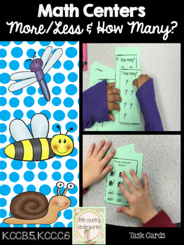 Bug  Cards: Greater, Fewer, Equal, and How Many? Math Center