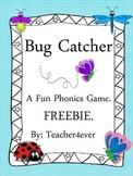 Bug Catcher. A Fun Phonics Game. FREEBIE.