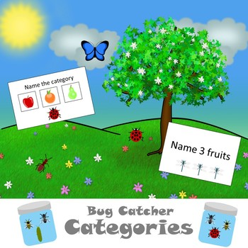 Bug Catcher Categories or Open Ended Game - with Low Prep Options!