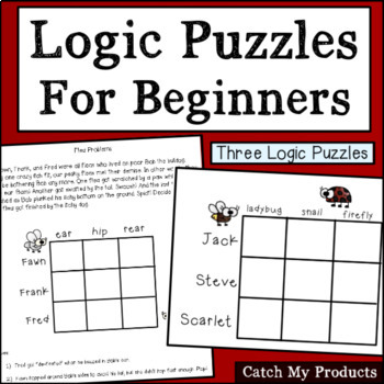 Logic Puzzles for Beginners (Revised BUNDLE) for Gifted an