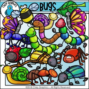 Bug Clip Art Set - Chirp Graphics