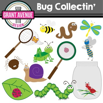 Bug Clipart - Bug Collecting Clip Art - Cute Bugs Clipart