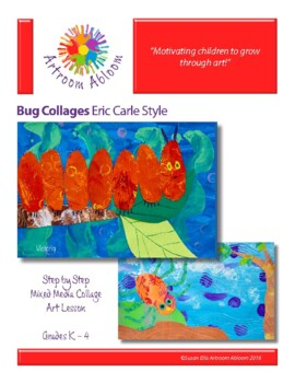 Eric Carle Style Bug Collages Art Lesson
