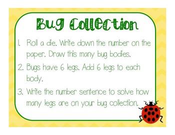 Bug Collection:  No Prep x6 Game