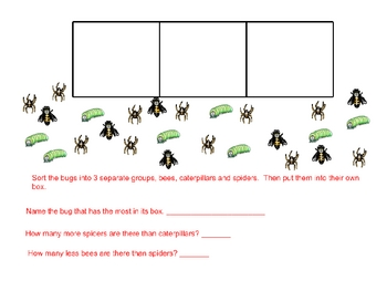 Bug Collection-Organize, Represent and Interpret Data