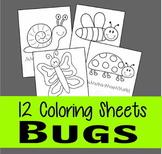 Bug Coloring Sheets