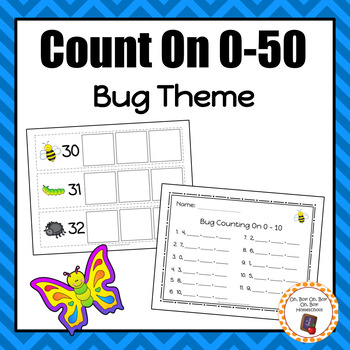 Bug Count On Strips and Worksheets - S