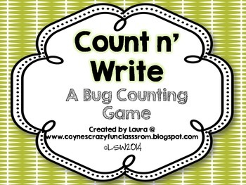 Bug Counting Activity for Pre-K and Kindergarten