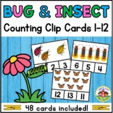 Bug and Insect Counting Clip Cards 1-12