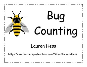 Bug Counting- Pin the Number Counting Activity