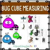 Bug Cube Measurement Cards for Preschool, Prek, and Kindergarten