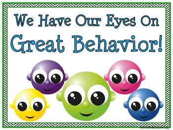 Bug Eyes! Behavior Clip Chart