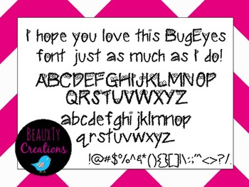 """Bug Eyes"" Font by BeauxTy Creations"