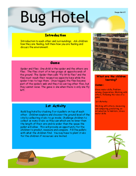 Bug Hotel.  Insects.  Outdoor Learning.