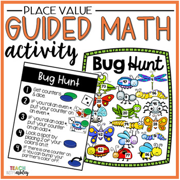 Place Value Guided Math Activity Bug Hunt