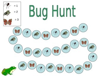 Bug Hunt - Math Game of Tallies & Skip Counting