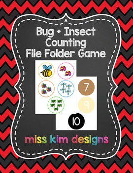 Bug + Insect Counting File Folder Game for Early Childhood