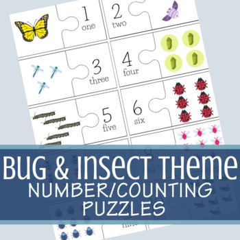 Bug/Insect Counting/Number Puzzles (Numbers 1 - 10)