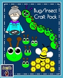 Bug/Insect Craft Pack: Hat, Caterpillar, Honeybee, Old Lady (Spring Weather)