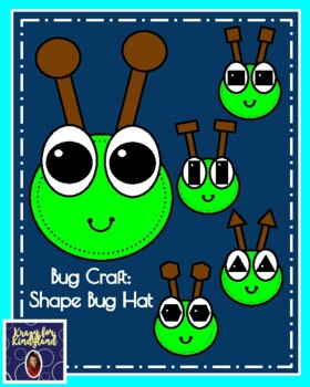 Bug, Insect Craft: Shape Bug Hat (Spring, Summer Weather)