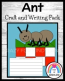 Ant Picnic Craft and Writing for Kindergarten (Summer, Bugs, Insects)