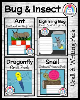Bug / Insect Craft and Writing: Ant, Snail, Dragonfly, Lightning Bug