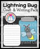Lightning Bug and Jar Craft and Writing for Kindergarten (Summer, Bugs, Insects)