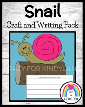Snail Craft and Writing (Bugs, Insects)