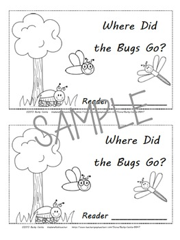 Bug & Insect Friends-Where Did the Bugs Go? Positional Word Emergent Reader