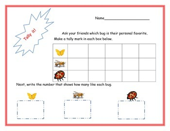 Bug & Insect Tally Chart