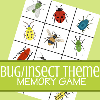 Bug/Insect Theme Classic Memory Card Game