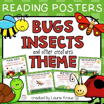 Bug Insect Theme - Reading Comprehension Posters