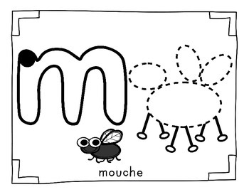 Bug - Insects / Les insectes FRENCH Playdoh mat