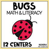 Bugs / Insects Centers: Math & Literacy Activities for Kindergarten BUNDLE