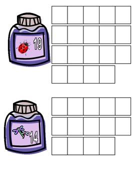 Bug Jar Counting 10-20 five frames
