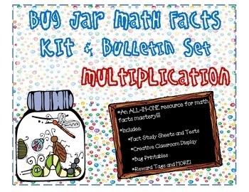 Bug Jar Math Facts Fluency Kit and Bulletin Board Display for Multiplication