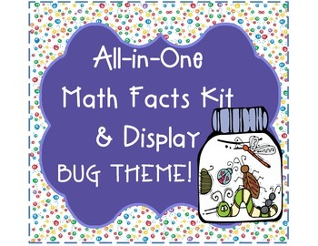 All-in-One Bug Jar Math Facts Fluency Kit & Display (Addition and Subtraction)