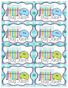 Bug Juice: A Word Game {Without Word Cards}