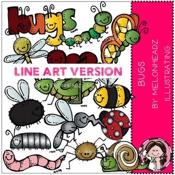 Melonheadz: Bugs clip art - LINE ART