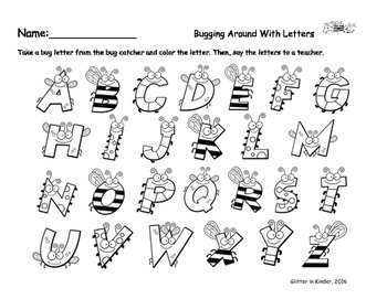Bug Letters and Monster Numbers with Coloring Sheets